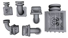 Industrial extractor fan, air duct and fan section #3D #funwithhexagon