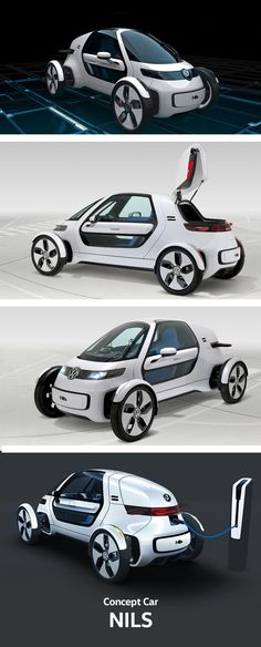 The Volkswagen NILS concept car shows that a car can be elegant and convenient at the same time. The aluminium bodywork, the motor and battery pack together weigh only 460 kilograms. The e-car provides transport for the modern short-distance commuter: it's eco-friendly, space saving, speedy and safe. The NILS is a concept vehicle that will never go into production, but through it we can see what will be the norm in the car industry just a few years from now.