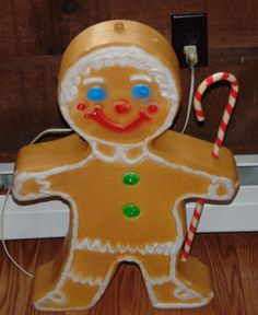 Gingerbread Man 24 Quot Blow Mold Christmas Light Yard Decor