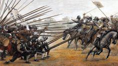 1634 -- Nördlingen, the pikemen of the Neapolitan Tercio of Toralto repulse the Protestant cavalry.