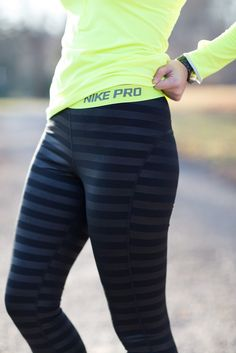 A Southern Drawl: Keeping Warm Striped Nike Warm Wear Running Pant