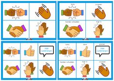 High Five, Shake Hands, Greeting Cards, Afrikaans, Card Card, Boxing, Conversation, Children, Kids