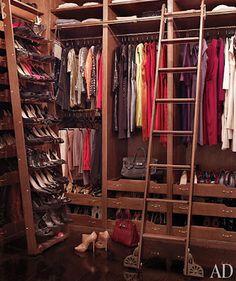 Brooke Shield's closet