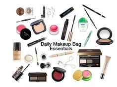 """Daily Makeup Bag: The Essentials"" by mademoisellemcm on Polyvore featuring beauty, Bobbi Brown Cosmetics, shu uemura, Revlon, tarte, Chanel, L'Oréal Paris, Tata Harper, Tweezerman and Laura Mercier"