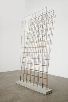 Charles Harlan Remesh — Concrete, steel, 87 x 47 x inches Concrete Sculpture, Art Sculpture, Concrete Art, Contemporary Sculpture, Contemporary Art, Op Art, Art Picasso, Arte Floral, Wire Art