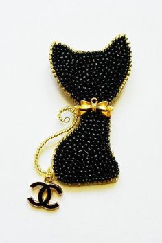 Диоровские котики от Шанель | biser.info - всё о бисере и бисерном творчестве