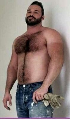 Nude big hairy chest for