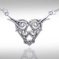Brigid Ashwood Celtic Heart of the Magdalene .925 Sterling Silver Necklace