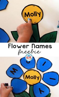Flower Names – Name Building Practice Printable is a fun, hands-on activity that will have your students building their name in no time. This free, editable printable is perfect for toddlers, preschool, and kindergarten students this spring. Preschool Names, Name Activities, Spring Activities, Hands On Activities, Early Years Classroom, Early Reading, Flower Names, Tot School, Play To Learn