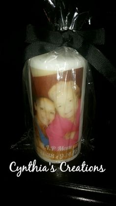 Image Transfer To Candle : In Loving Memory Candle
