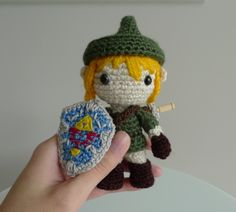A crocheted little link doll! I've got all the yarn to make this now I just need the ambition.