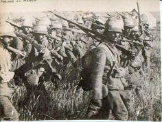 British troops marching on Pretoria 1901