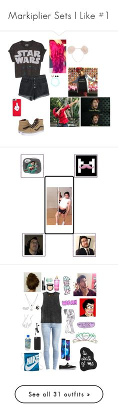 """""""Markiplier Sets I Like #1"""" by nerdbucket ❤ liked on Polyvore featuring youtube, markiplier, Vans, Casetify, Hot Topic, art, Object Collectors Item, RVCA, Lord & Berry and Eos"""