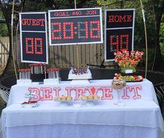 THREElittleBIRDS Events: Ottawa Senators (Hockey) Themed Sweet Table
