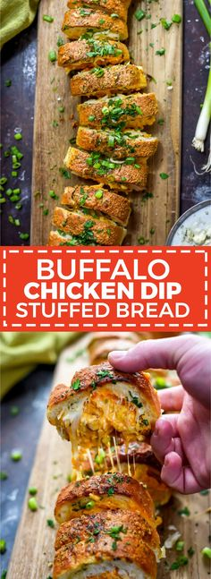 Buffalo Chicken Dip Stuffed Bread. When it comes to appetizers, it doesn't get better than this cheesy stuffed, ranch-brushed bread. Make it for the Super Bowl or your next party and watch it disappear. | hostthetoast.com