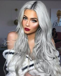 Fantastic Photo silver Hair Makeup Style Dyeing your own hair can occasionally . Fantastic Photo silver Hair Makeup Style Dyeing your own hair can occasionally . Grey Hair Wig, Silver Blonde Hair, Lace Hair, Emo Hair, Silver Hair Colors, Purple Hair, Silver Nails, Silver Hair Girl, Silver Platinum Hair