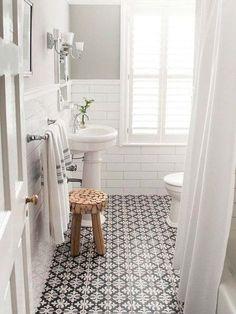 Baño de estilo rústico-chic