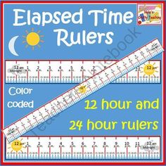 Elapsed Time Rulers from NylasCraftyTeaching on TeachersNotebook.com (5 pages)  - Elapsed time Rulers #math