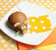 Fruta divertida para niños - ratón