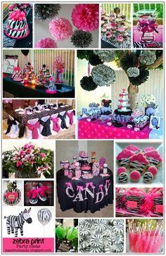 pink and zebra birthday party on Pinterest  Zebras, Zebra birthday ...