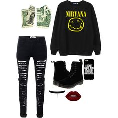A fashion look from February 2016 by if-i-were-famous1 featuring Chicnova Fashion, Dr. Martens and Lime Crime