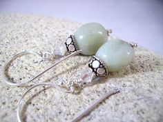 Amazonite Crystal and Sterling Silver Petit by OBTPjewelry on Etsy, $22.00