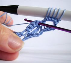How to Crochet Pretty Broomstick Lace