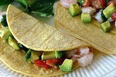 Ceviche- Style Shrimp and Avocado Tacos