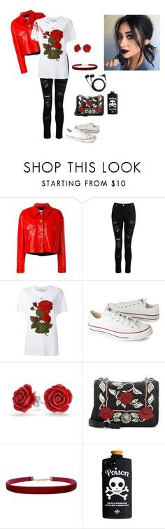 """Untitled #237"" by lulugurl98 ❤ liked on Polyvore featuring Golden Goose, Dorothy Perkins, Off-White, Converse, Bling Jewelry, Miu Miu, Humble Chic and Sennheiser"