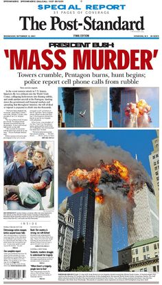 World Trade Center Attack, 911 Never Forget, Remembering September 11th, Morgan City, Newspaper Front Pages, 911 Memorial, New York City Photos, Newspaper Headlines, Joker Art