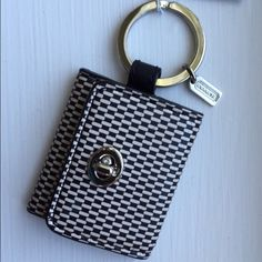 Authentic Coach Keychain Fob NWT~Photo Album NWT Coach Novelty Logo 2 Photo Album Frame Keychain~Silver/Black/Tan Coach Accessories Key & Card Holders