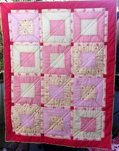 Quilted Baby Blanket by NN CustomDesigns