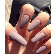 Long matte coffin nails