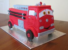 red the firetruck cake from cars