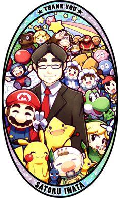「Thank you, Mr. Iwata」/「Quassy」のイラスト [pixiv] #ThankYouIwata #RIPIwata