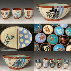 Still riding a wave of gratitude on this Small Business Saturday. Grateful to do what I love, for all of the support of my own small… Pottery Painting, Ceramic Painting, Ceramic Art, Painting On Wood, Pottery Bowls, Ceramic Pottery, Keramik Design, Ceramic Workshop, Clay Bowl