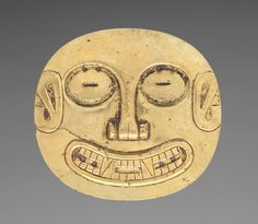 Ornament from Sitio Conte: Small Plaque, c. 400-500 Panama, Conte style, 5th - 10th century
