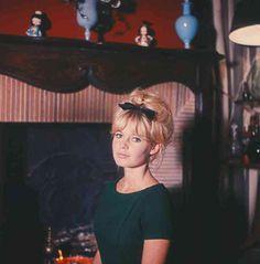Brigitte in her Paris apartment modelling for Elle magazine, 1960.