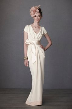 Crepe de Chine gown from BHLDN.