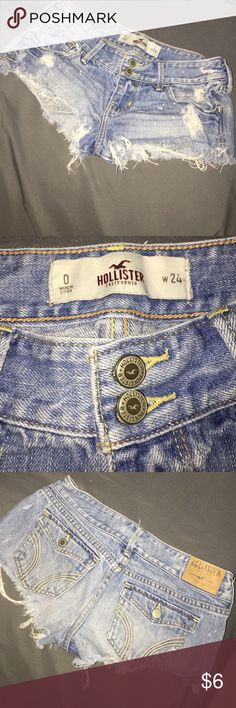 Hollister shorts Holister jeans shorts! Great for the summer! Worn a few times and great condition! Hollister Shorts Jean Shorts