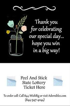 lottery ticket holder favors | WEDDING