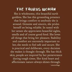 Taurus Traits, Earth Goddess, Taurus Woman, Thick Skin, Tough Times, Love Her, Good Food, Bring It On, Thoughts