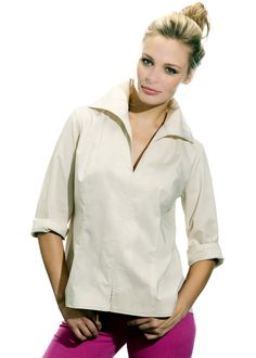 """The Swing"" Shirt in Khaki signature poplin.  Finley Couleur Spring 2012.  Available at your favorite Finley retailer 2/28"