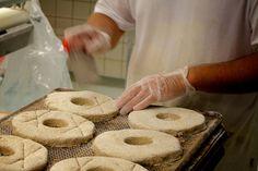 Baker Kimmo Taskinen scoring 100% rye breads at Kanniston Leipomo, Helsinki, Finland. Bakery Shops, Rye Bread, Pain, Desserts, Recipe, Tailgate Desserts, Deserts, Bakeries, Bakery