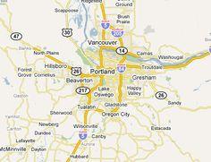cool Portland Metro Map