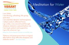 Elements Water:  A Meditation for #Water ~ The Four Elements of Success™ System.