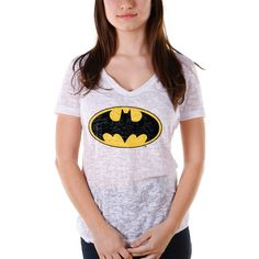 Camiseta Devorê Feminina Batman Logo Clássico #Batman