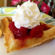 Cinnamon Belgian Waffles - Cinnamon keeps your blood sugar from soaring. and cinnamon in waffles must be so good. What's For Breakfast, Breakfast Recipes, Waffle Recipes, Snack Recipes, International Waffle Day, High Tea Food, Belgium Waffles, Crepes And Waffles, Brussels Belgium