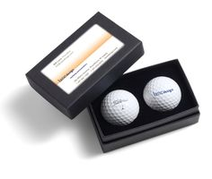 New 2016 Titleist NXT Tour Soft 2-Ball Business Card Box, Each box contains 2 logoed golf balls and a slot to insert your own business card. Pricing listed includes a 1-4 color custom logo on one location of the golf balls. Must be ordered in multiples of 6 units. Note: if paying for golf balls orders with a credit card, a 2% processing fee is added to the order total. Available with White or Yellow NXT Tour S golf balls.