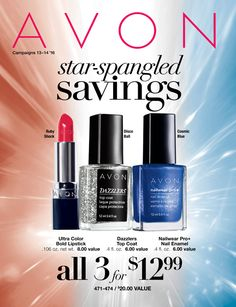 Avon Star-Spangled SAVINGS 2016 Catalog Good through 6/17/16